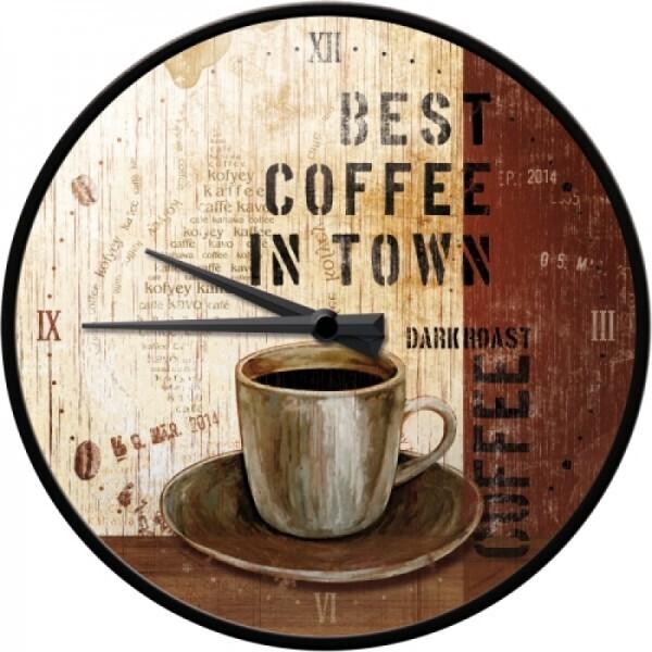 Wanduhr Best Coffee in Town