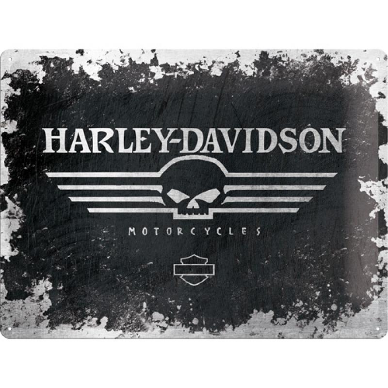 Blechschild Harley - Davidson Skull Logo