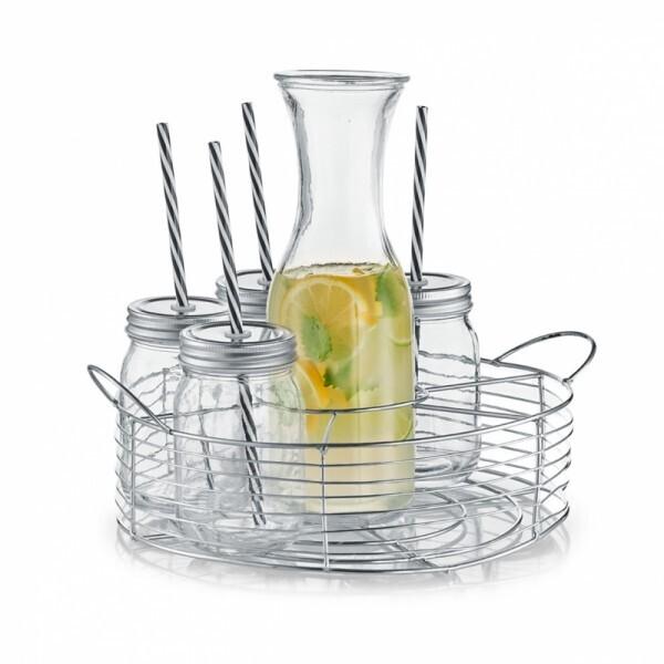 Glaskaraffen Set mit Trinkgläser 8-teilig