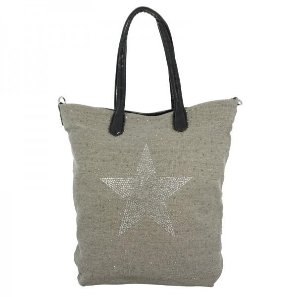 Damenhandtasche Glitzerstern