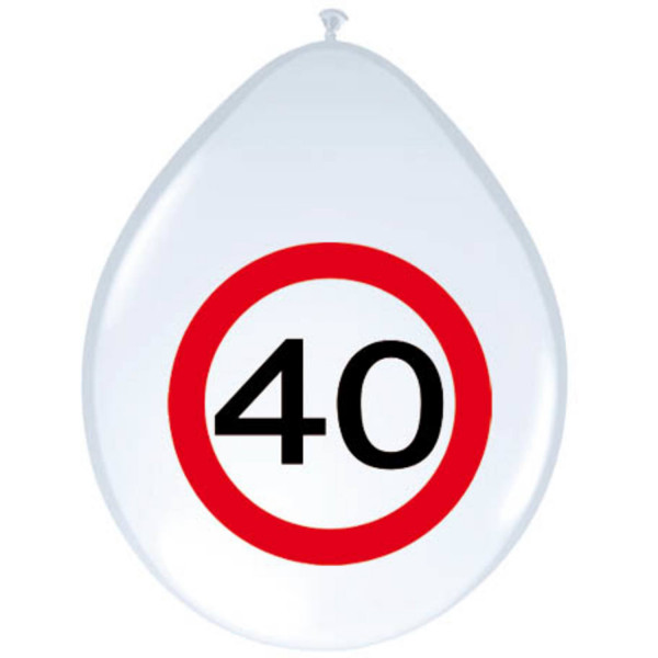 40. Geburtstag Verkehrsschild Ballons