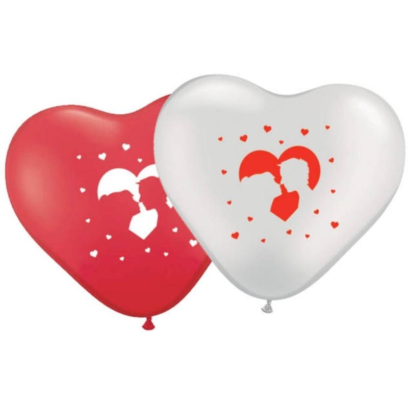 Romantische herzförmige Ballons