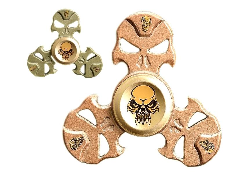 Finger Spinner Metall Totenkopf