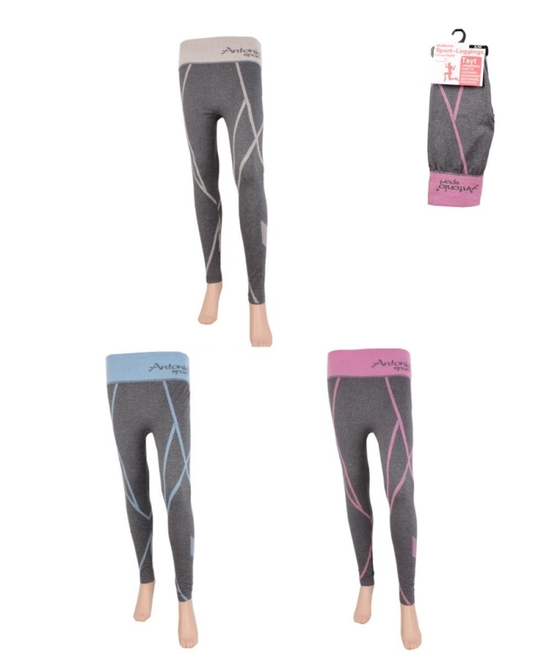 Frauen Sport Leggings mit Strickmuster