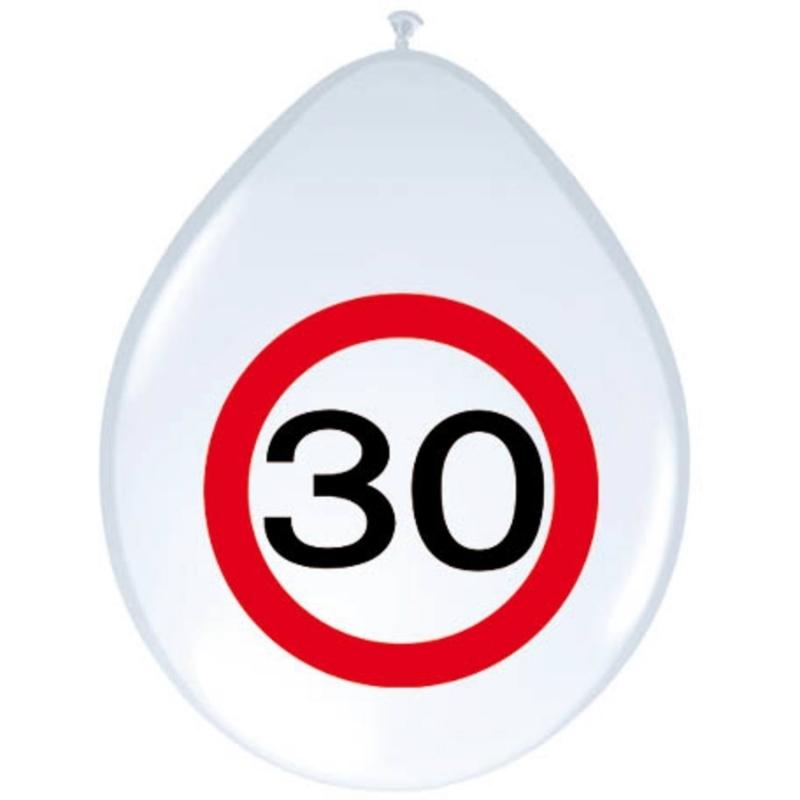 30. Geburtstag Verkehrsschild Ballons