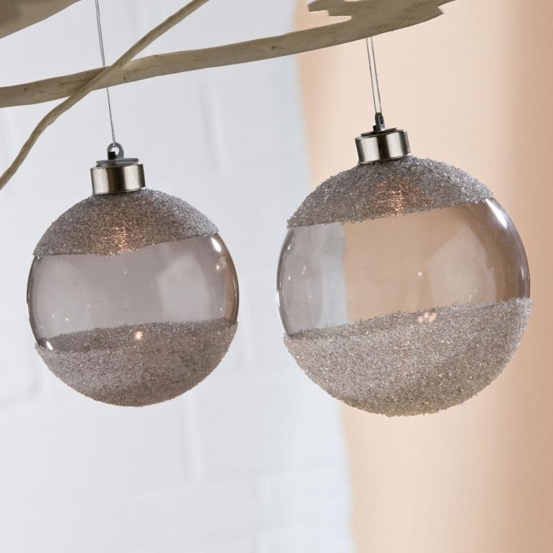 4-er Set Weihnachtskugel mit LED