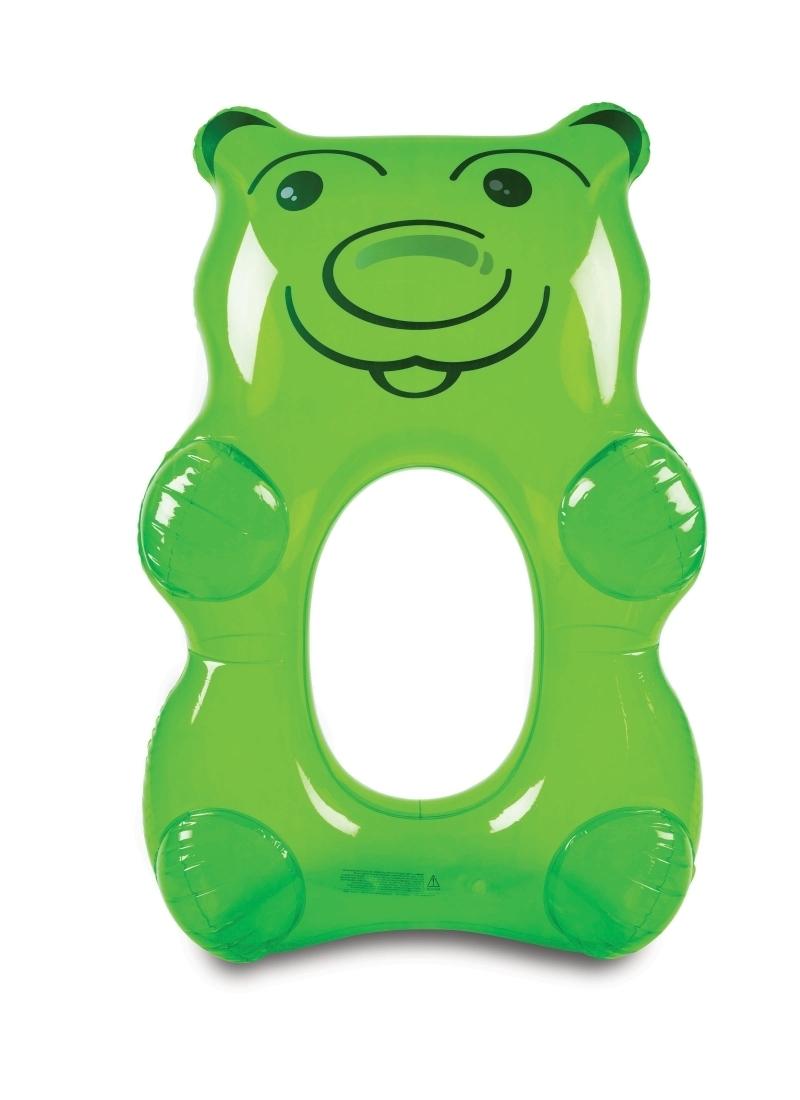 Schwimmtier grosser Gummibär grün