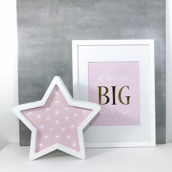 LED-Nachtlampe Stern rosa