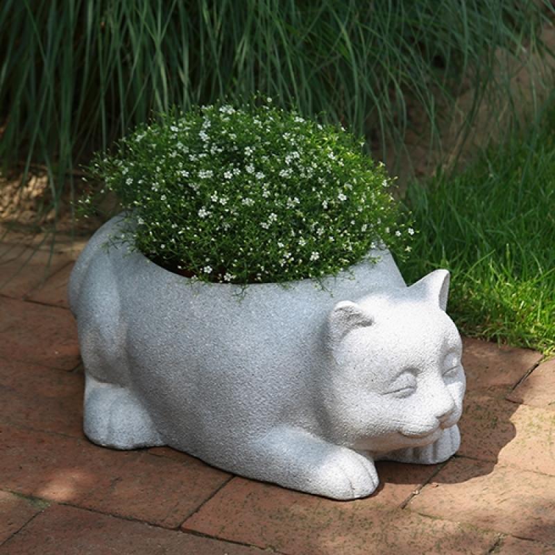 Pflanzentopf Katze