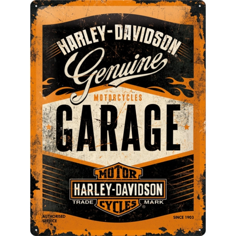 Blechschild Harley - Davidson Garage