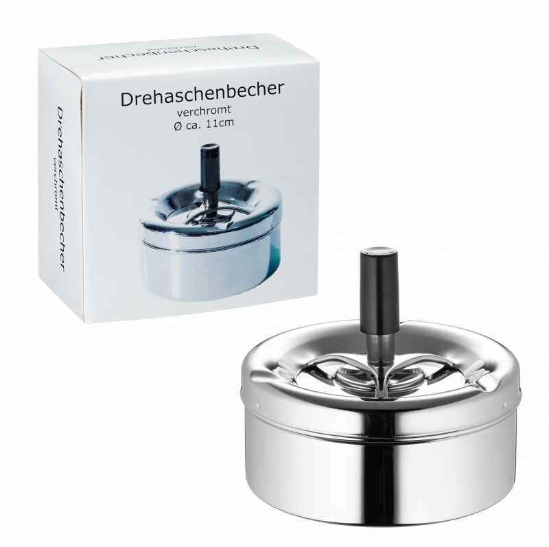 """Aschenbecher """"Drehascher"""" verchromt"""