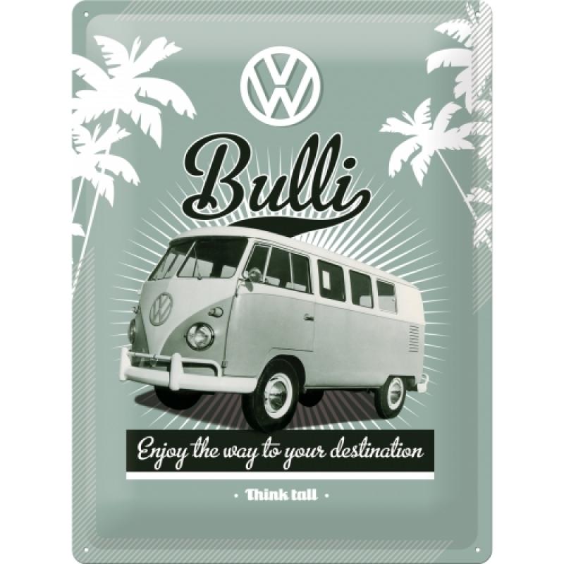 Blechschild VW Retro Bulli