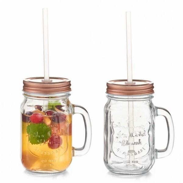 Trinkglas Cooper mit Henkel 2-er Set
