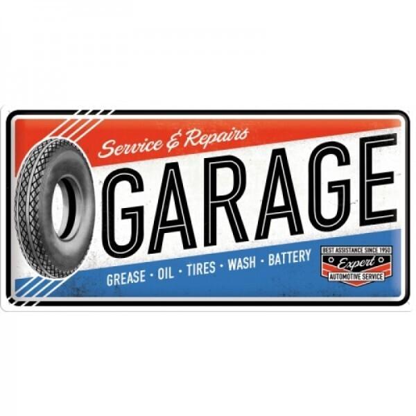 Blechschild Garage Service & Repairs