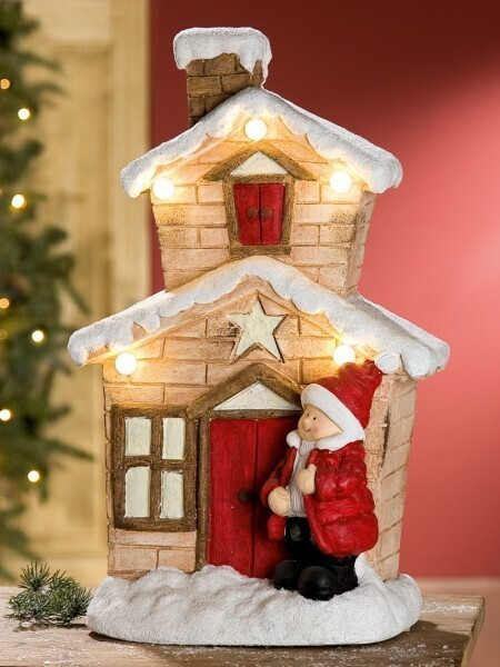 LED-Winterhaus kleiner Junge