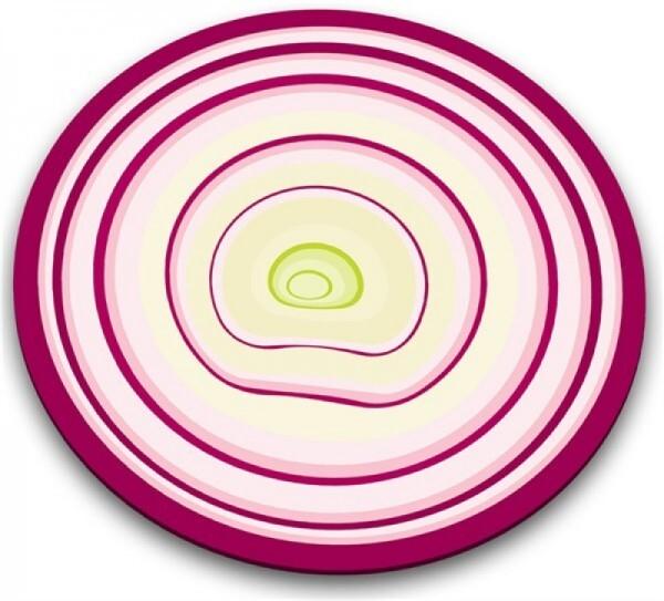 Glasschneideplatte Zwiebel rund