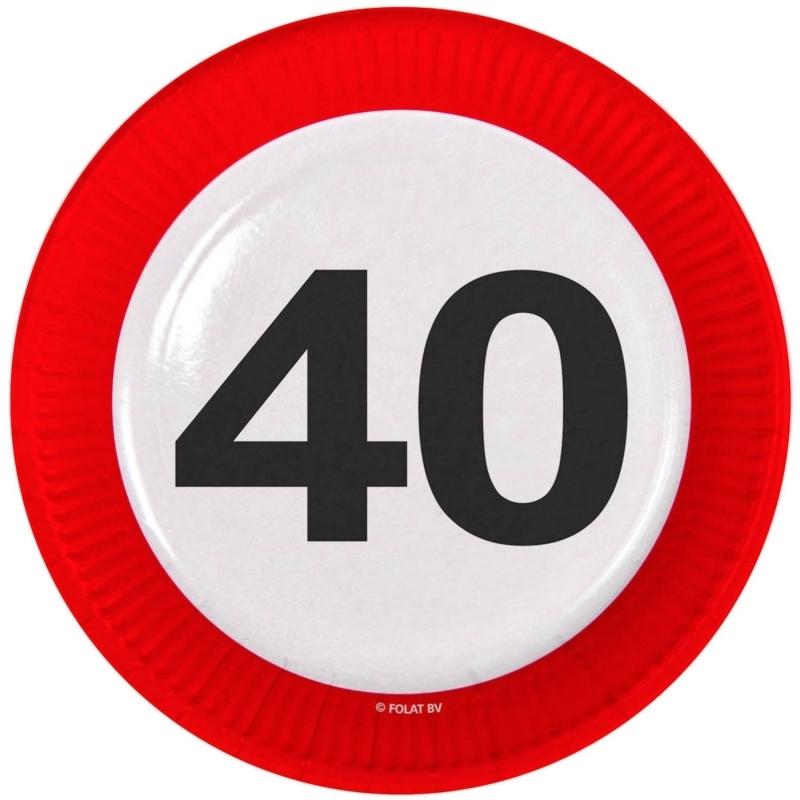 40. Geburtstag Verkehrsschild Teller