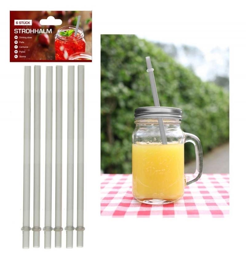 Ersatztrinkhalme für Trinkgläser 350/450 ml silber