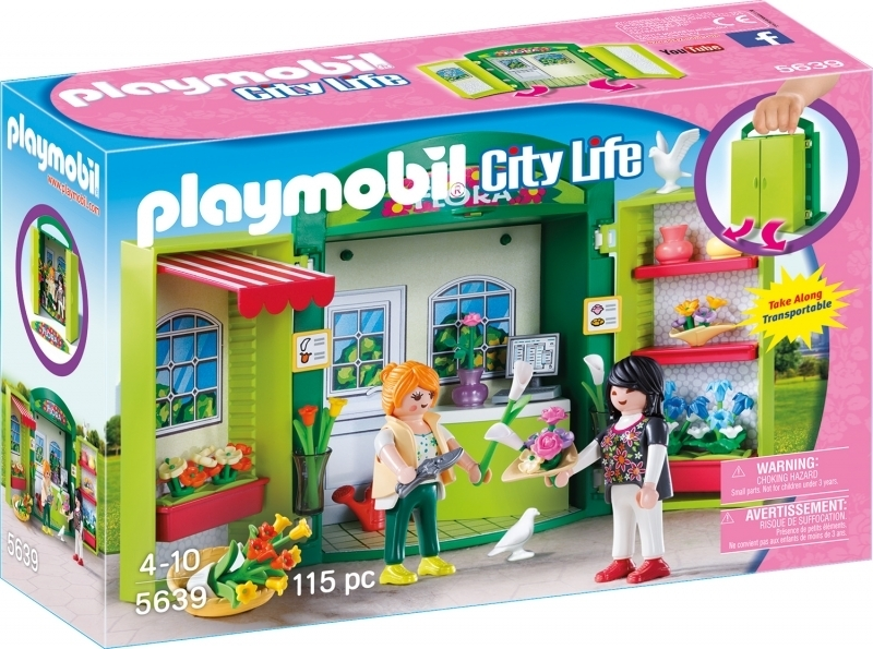 "PLAYMOBIL® 5639 Aufklapp-Spiel-Box ""Blumenladen"""