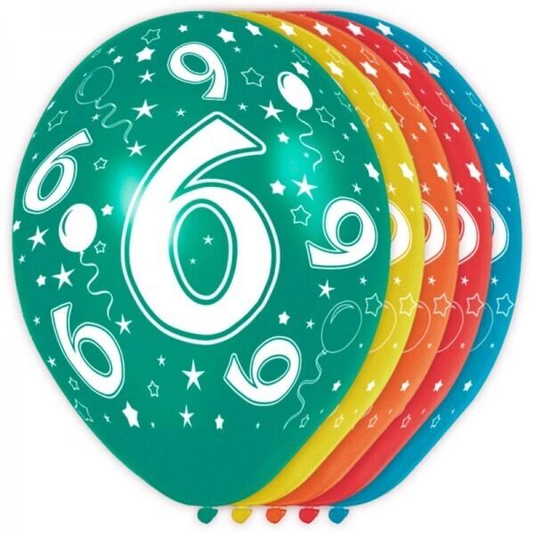 6. Geburtstag Ballons