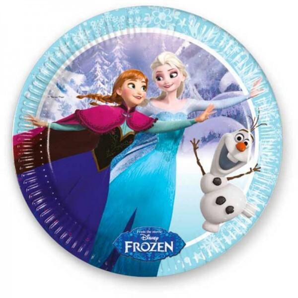 Die Eiskönigin Eislaufen Teller